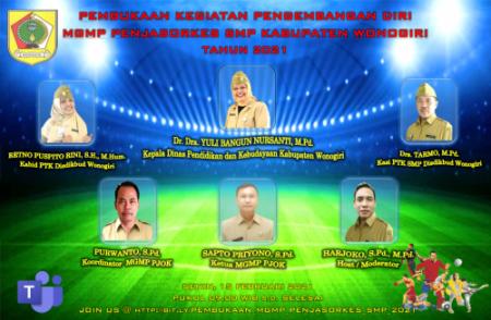 MGMP Penjasorkes SMP Kabupaten Wonogiri Menyelenggarakan Pembukaan Kegiatan Pengembangan Diri