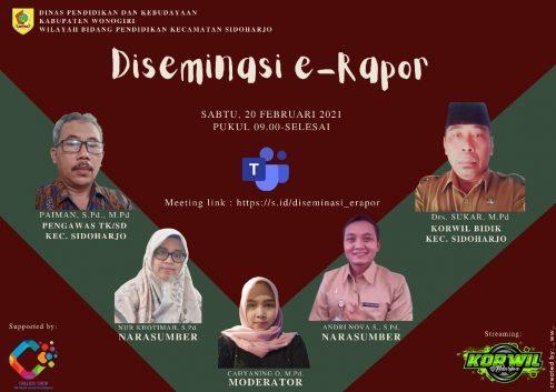 KKKS Bersama Tim Kreatif Sidoharjo Menggelar Diseminasi E-Rapor