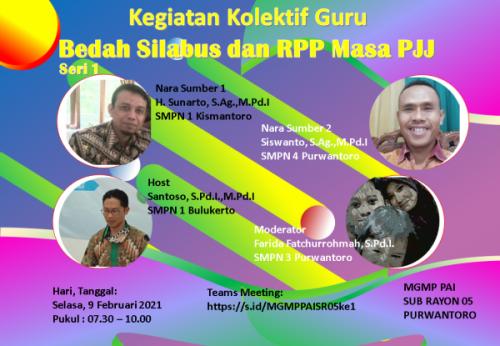 MGMP PAI SR 05 Purwantoro Gelar KKG Bedah Silabus dan RPP Masa PJJ