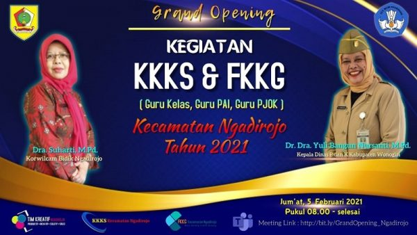 KKKS dan FKKG Kecamatan Ngadirojo Gelar Grand Opening Kegiatan 2021