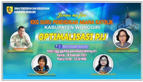 Geliat Perdana KKG Pendidikan Agama Katolik dan Budi Pekerti  Kabupaten Wonogiri