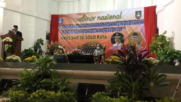 MKKS SMP Kabupaten Wonogiri Ikuti Webinar MKKS Soloraya