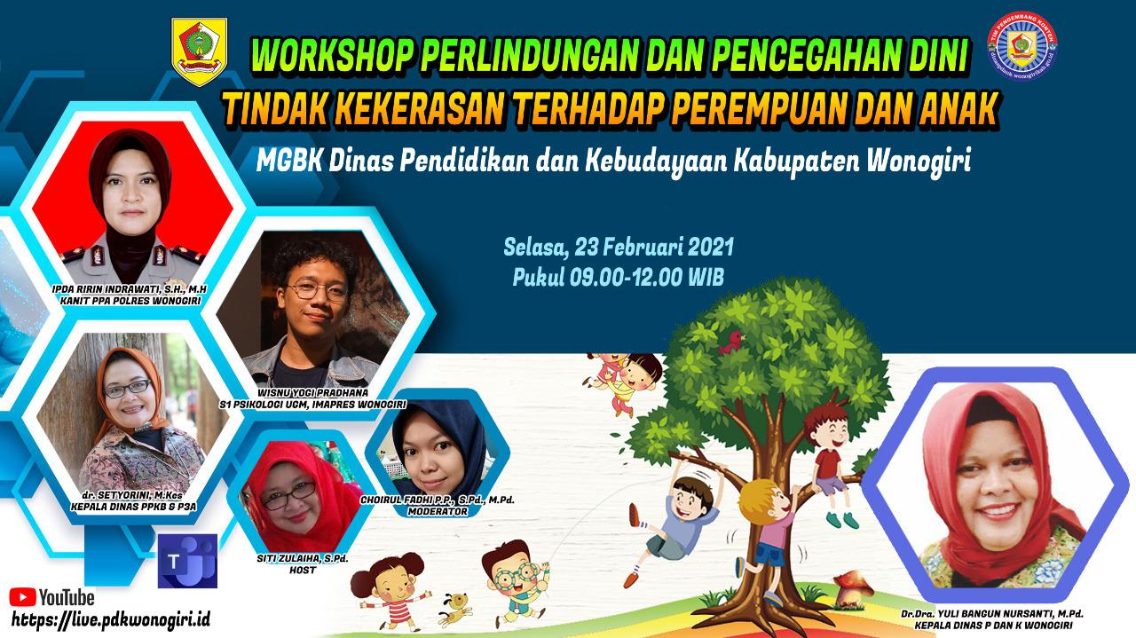 Workshop Perlindungan dan Pencegahan Kekerasan Terhadap Perempuan dan Anak ( klik untuk mengikuti )