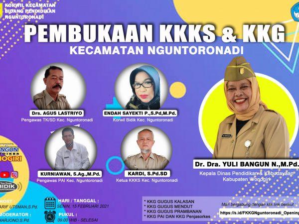 KKKS dan KKG Kecamatan Nguntoronadi Sukses  Gelar Pembukaan KKKS dan KKG Secara Virtual