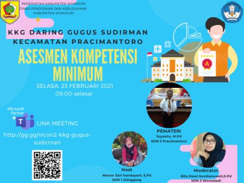 KKG Gugus Sudirman Pracimantoro Gelar Webinar Asesmen Kompetensi Minimum