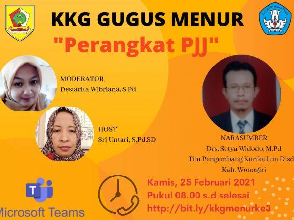 FKKG Gugus Menur Kecamatan Wonogiri Gelar KKG Virtual Ketiga Penyusunan Perangkat PJJ