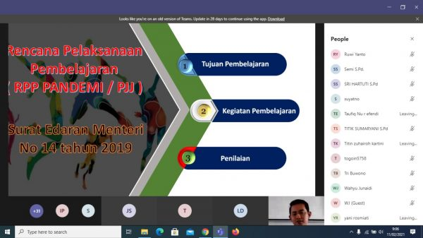 KKG PJOK Kecamatan Wonogiri Gelar Webinar Pengembangan RPP PJJ