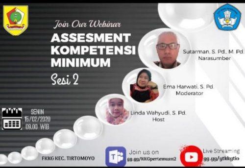 AKM Sesi 2 Forum KKG Kecamatan Tirtomoyo