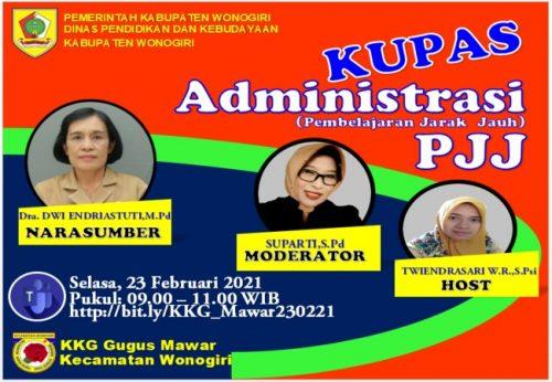 KKG Gugus Mawar Wonogiri Kupas Administrasi PJJ