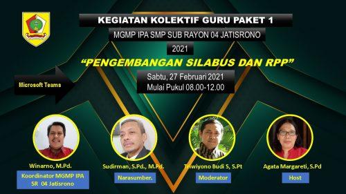 MGMP IPA Subrayon 04 Jatisrono Sukses Gelar KKG