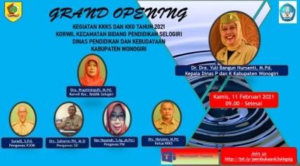 Grand Opening Kegiatan Kolektif Guru Selogiri Tahun 2021
