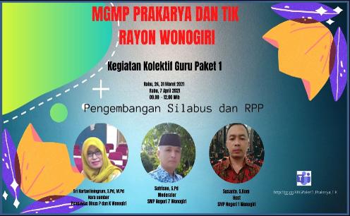 MGMP Prakarya dan TIK Wonogiri Gelar KKG Paket 1