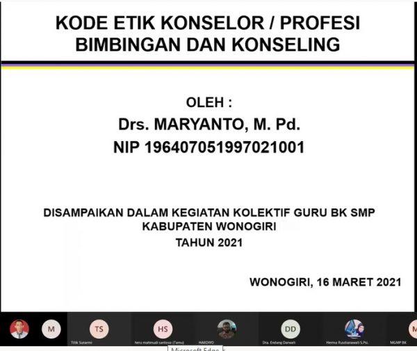 KKG BK Sub Rayon 01 Selenggarakan Bedah Aplikasi Program Bimbingan Konseling Berbasis Komputer