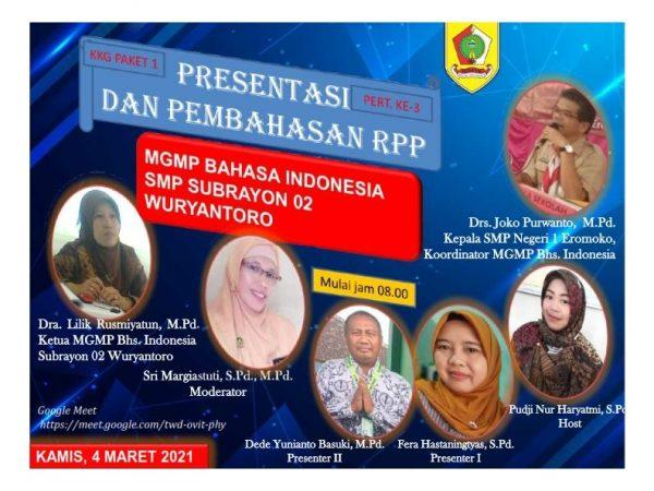 MGMP Bahasa Indonesia Subrayon 02 Sukses Gelar KKG Paket 1
