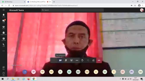 KKG PJOK Kahyangan Tirtomoyo Laksanakan KKG Virtual dengan Materi Asesment Kompetensi Minimum (AKM)