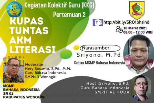 MGMP Bahasa Indonesia Subrayon 01 Gelar KKG Paket 2