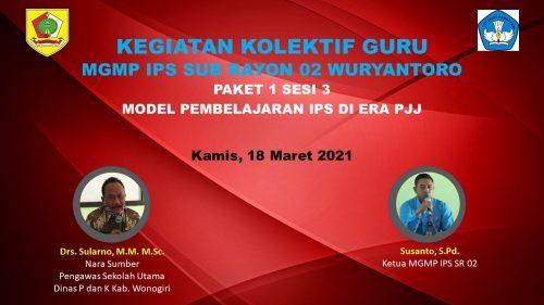 MGMP IPS Subrayon 02 Wuryantoro Tuntaskan KKG Paket 1
