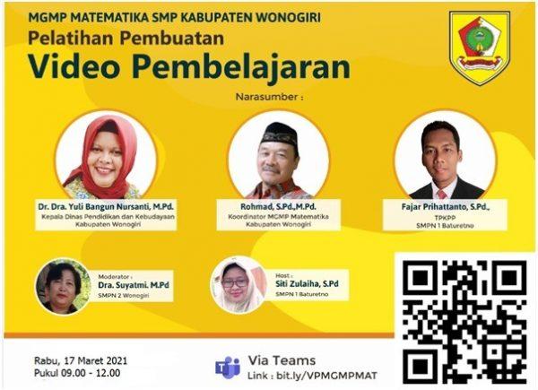 MGMP Matematika SMP Selenggarakan Diklat Pembuatan Video Pembelajaran Pertemuan ke-2