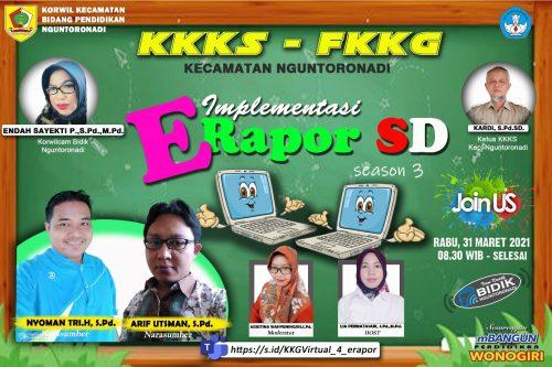 KKKS dan KKG Nguntoronadi Gelar Virtual E-Rapor Sesi 3