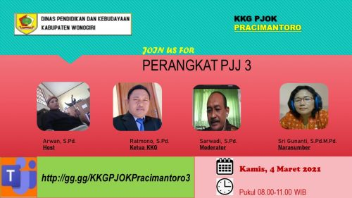 KKG PJOK Pracimantoro Gelar  Pertemuan Ketiga dengan Materi Penilaian PJJ