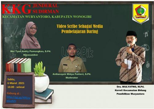 KKG Wuryantoro Mengupas Pemanfaatan Videoscribe sebagai Media Pembelajaran Daring