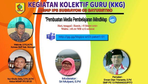 MGMP IPS Subrayon 03 Baturetno Kupas iMindmap untuk Pembelajaran