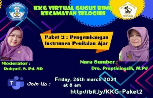 KKG Virtual Gugus Bima Selogiri Kupas Tuntas Pengembangan Instrumen Penilaian