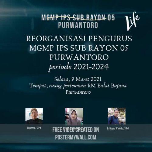 MGMP IPS Subrayon 05 Purwantoro Gelar Reorganisasi Pengurus