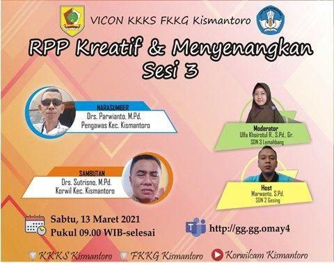 KKKS dan FKKG Kismantoro Gelar Vicon Pembuatan RPP Kreatif dan Menyenangkan
