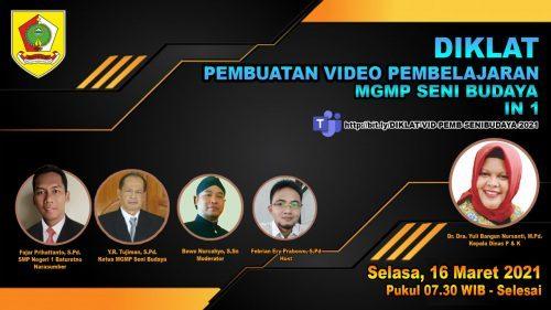 MGMP Seni Budaya Rayon Wonogiri Selenggarakan Diklat Pembuatan Video Pembelajaran