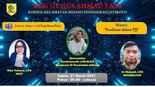 Materi Penilaian PJJ Warnai KKG Gugus Ahmad Yani