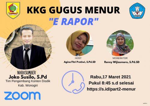 KKG Gugus Menur Kecamatan Wonogiri Gelar Kembali Sosialisasi E-Rapor