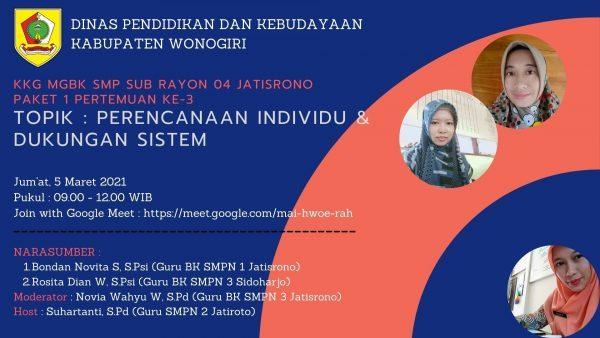 Webinar MGBK SMP Subrayon 04 Angkat Topik Menarik