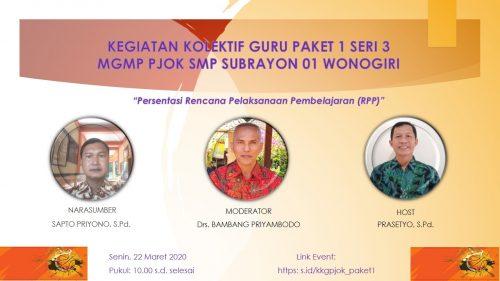 MGMP PJOK SMP Subrayon 01 Wonogiri Selesaikan  Kegiatan Kolektif Guru Paket 1