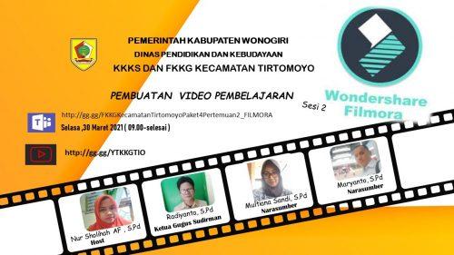 FKKG Tirtomoyo Berlatih Membuat Video Pembelajaran