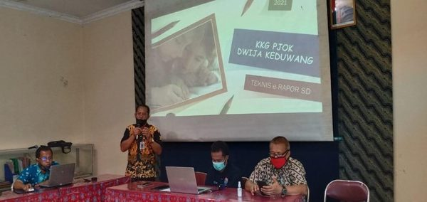 KKG PJOK Dwija Keduang Jatisrono Mantapkan Kembali E-Rapor Secara Luring