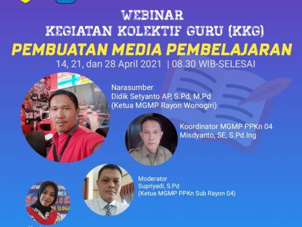 MGMP PPKn Sub Rayon 04 Kabupaten Wonogiri Gelar Webinar Kegiatan Kolektif Guru (KKG)