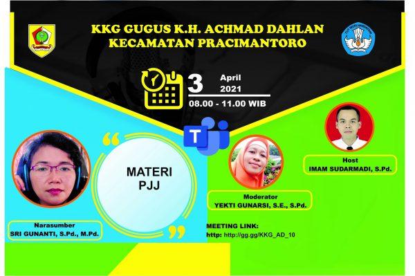 KKG Gugus K.H. Achmad Dahlan Pracimantoro Menyelenggarakan Sosialisasi Materi PJJ