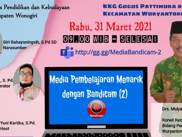 Membuat Video dengan Bandicam bersama KKG Pattimura dan PJOK Kecamatan Wuryantoro