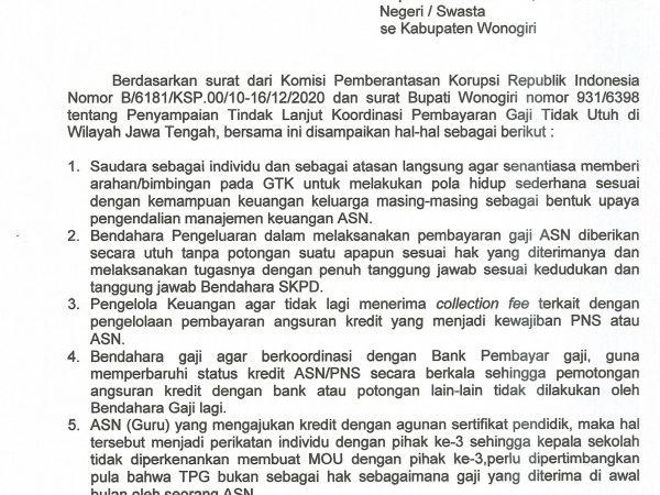 Surat Edaran Pengendalian Manajemen Keuangan GTK