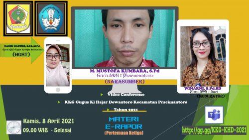 KKG Ki Hajar Dewantoro Kecamatan Pracimantoro Gelar Pertemuan Ketiga Materi  E-Rapor