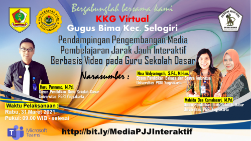 PKB Mandiri Hasil Kerja Sama KKG Gugus Bimadan Universitas PGRI Yogyakarta