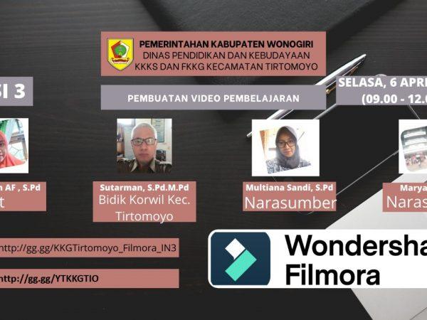 FKKG Kecamatan Tirtomoyo Gelar KKG Virtual Pembuatan Video Pembelajaran Sesi Ketiga