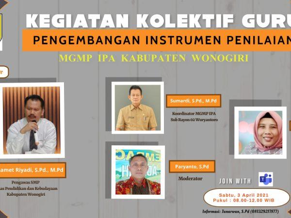 MGMP IPA SMP Kabupaten Wonogiri Selenggarakan  KKG Paket 2