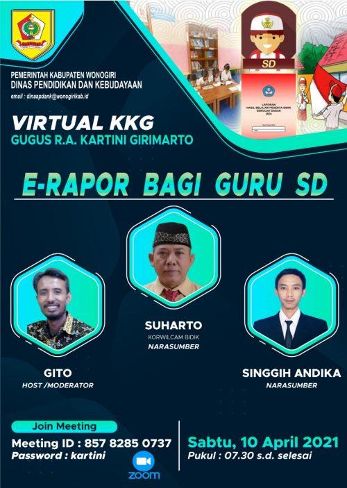 KKG Gugus RA Kartini Girimarto Gelar KKG Virtual dengan Tema E-Rapor Bagi Guru SD