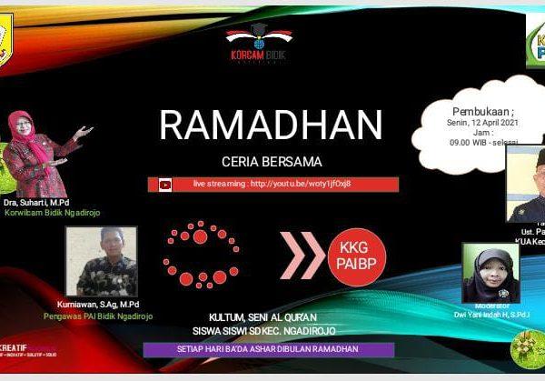 Grand Opening Ramadhan Ceria Bersama KKKS dan    KKG PAIBP Kecamatan Ngadirojo