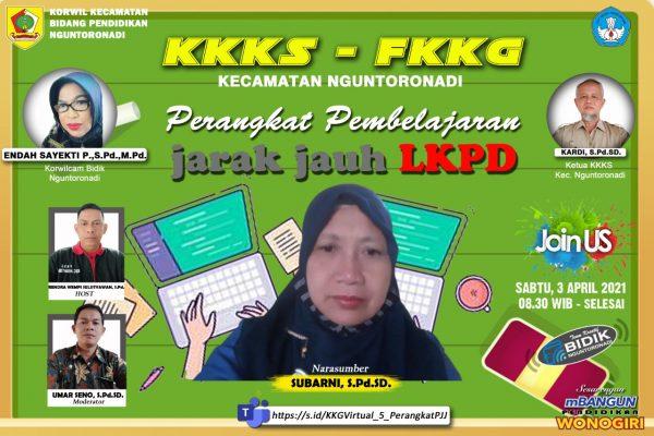FKKKG Kecamatan Nguntoronadi  Selenggarakan Vicon Penyusunan Perangkat PJJ
