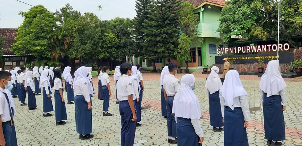 Uji Coba Pembelajaran Tatap Muka di  SMP Negeri 1 Purwantoro