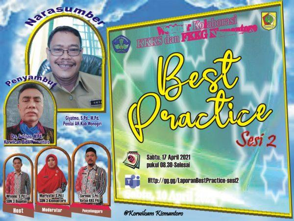 KKG PAI Kismantoro Gelar Vicon Penyusunan Laporan Best Practice Sesi 2