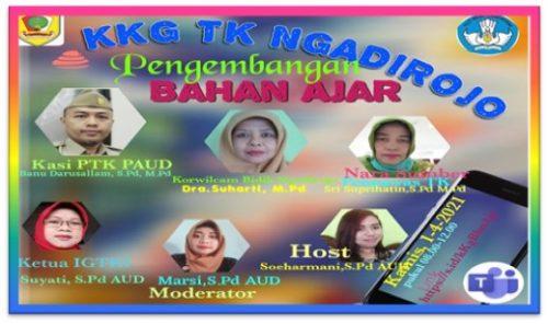 "Virtual Conference  ""Pengembangan Bahan Ajar""   KKG TK Kecamatan Ngadirojo"